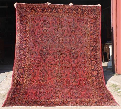 "1: 7'5""x10'6"" antique Persian Sarouk rm size Oriental r"