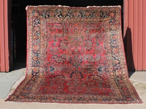 "3: 9'1""x11'2"" antique Persian Sarouk rm size Oriental r"
