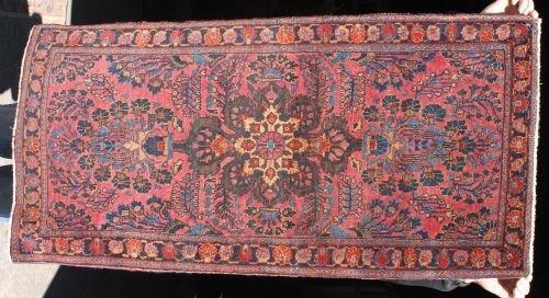 4: 2'x4' antique Persian Sarouk Oriental area rug