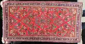5 2x4 semi antique Persian Sarouk Oriental area rug