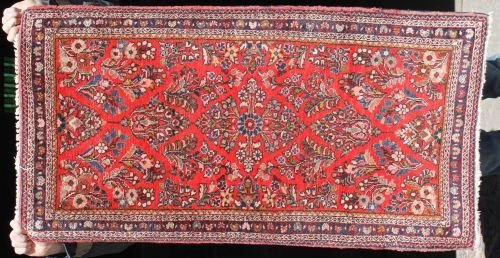 5: 2'x4' semi antique Persian Sarouk Oriental area rug