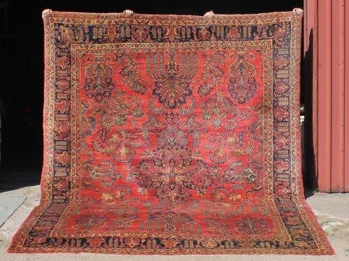 "6: 8'6""x11'3"" antique Persian Sarouk rm size Oriental r"