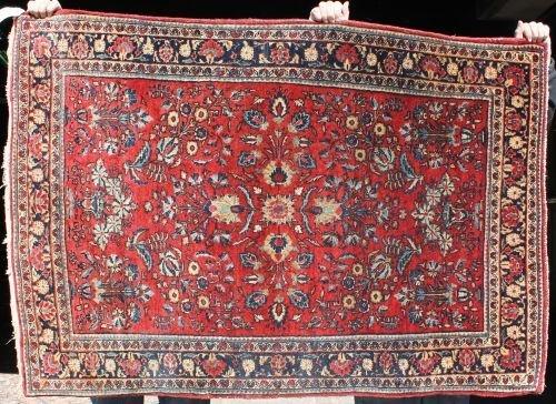 """7: 3'6""""x5' antique Persian Sarouk Oriental area rug"""