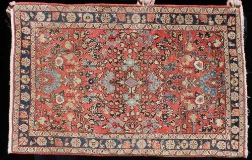 "8: 3'3""x5' semi-antique Persian Sarouk Oriental area ru"