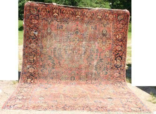 "9: 9'2""x12'4"" antique Persian Sarouk rm size Oriental r"