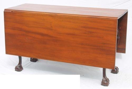 20: Elegant period Chippendale mahog deep dropleaf Phil