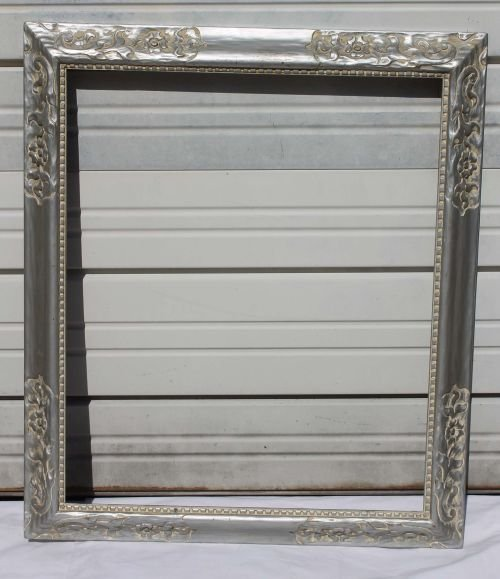 """20A: silver gilt vintage picture frame - 30 1/2""""x35 1/2"""