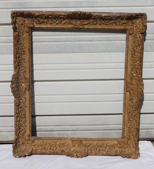 30A: Fine large 19thC French picture frame - overall si
