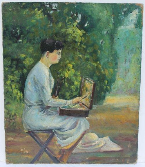"""31A: Fine unsgnd Vintage portrait of Mary Cassatt 11 ¾"""""""