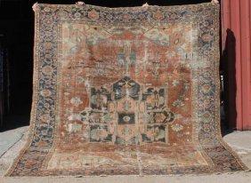 "9'2""x10'6"" Antique Ca 1910 Persian Serapi Oriental"