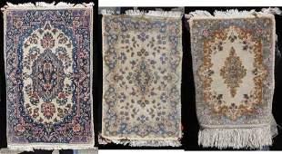 89 lot of 3 antique  semiantique Persian Kirman Orie