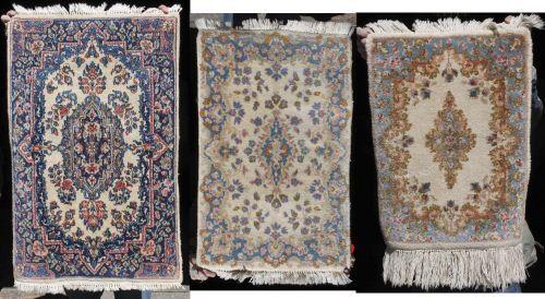 89: lot of 3 antique & semi-antique Persian Kirman Orie