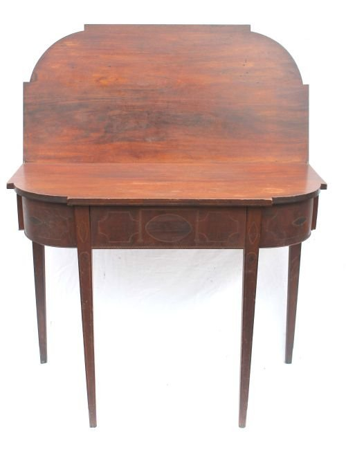 120: Important period Hepplewhite ca 1795-1800 mahogany