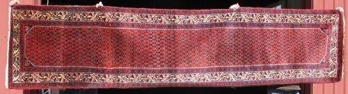 "121: 2'7""x11'4"" semi-antique Persian Oriental runner"