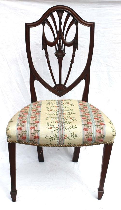 230: period Hepplewhite ca 1805 NY mahogany shield back