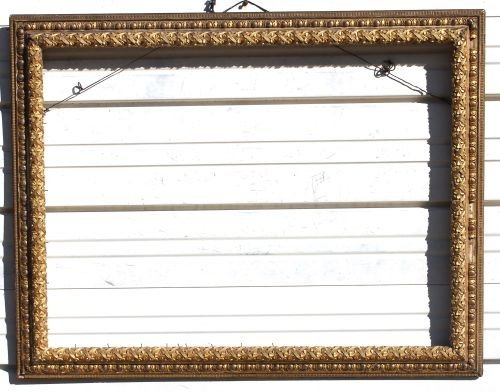 230A: large beautifully carved & gilded antique frame -
