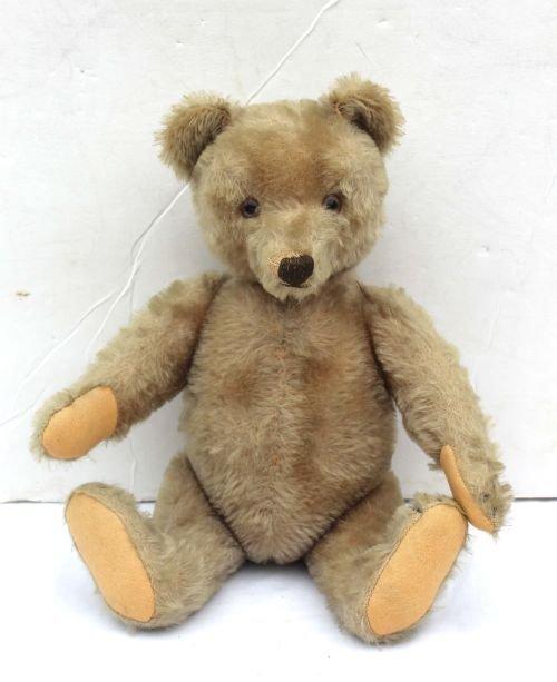 252: antique mohair jointed attrib Steiff teddy bear w