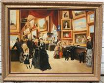 264A very large sgnd Sicatta 35x46 oc of multiple f