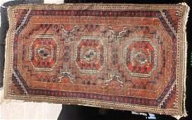 "24A: 5'4""x3'1"" antique Balouch Oriental area rug"