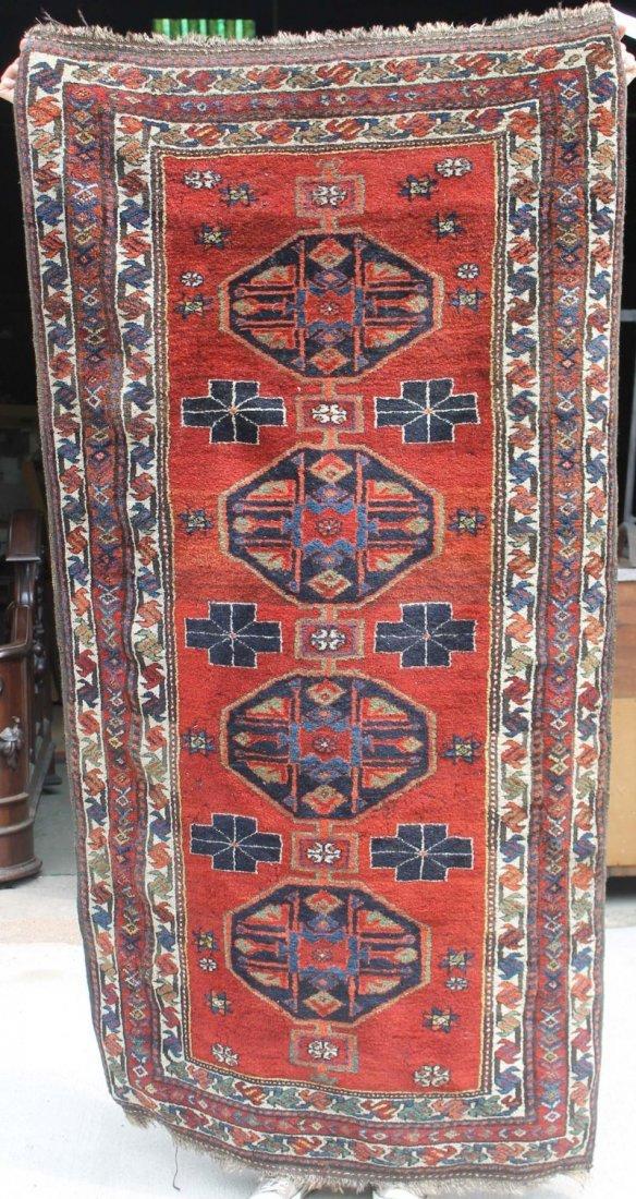 "1: 3'5""x6'3"" semi-antique Kurdish Oriental rug"