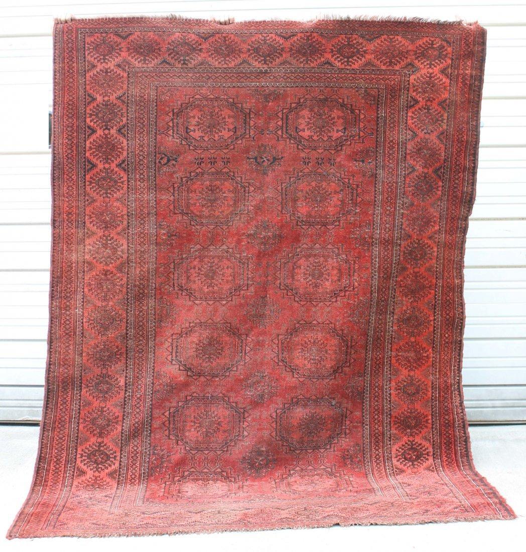"2: 6'4""x8'4"" antique Balouch Oriental rug"