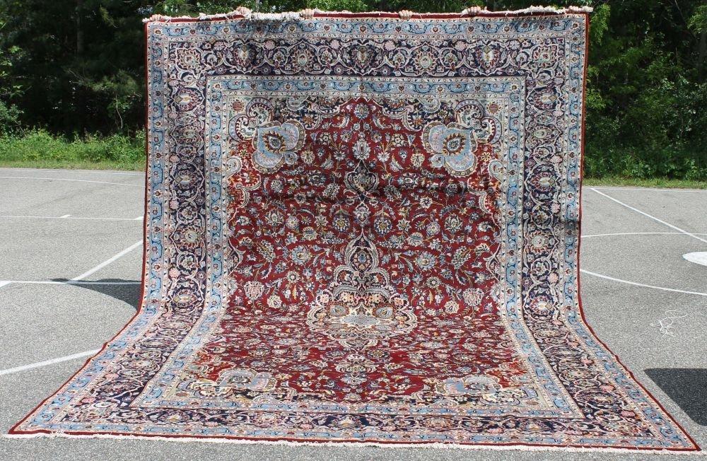 "11: 9'8""x13'9"" fine quality semi antique Persian Kashan"