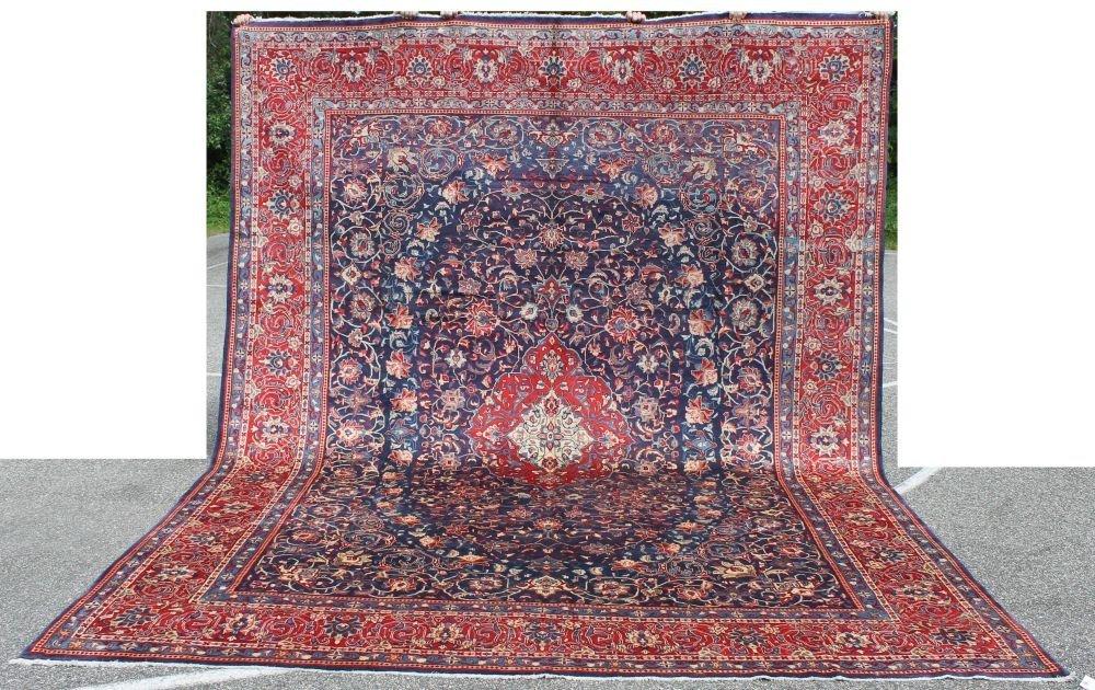 "21: 9'10""x12'8"" semi-antique fine quality Persian Sarou"