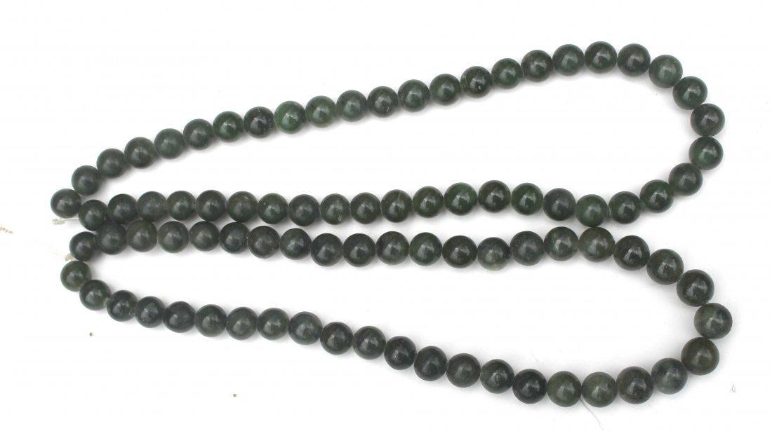2: 2 Chinese jade strands of beads