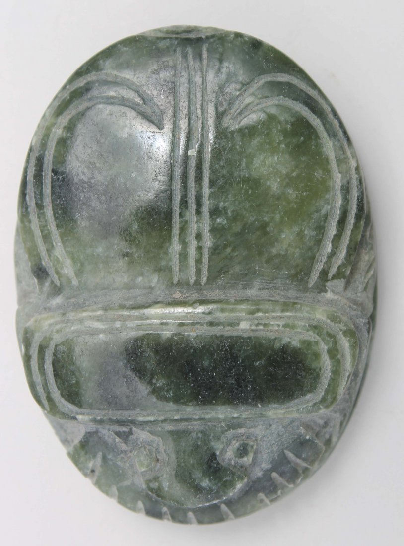 """24: Chinese carved jade scarab - approx 2"""""""