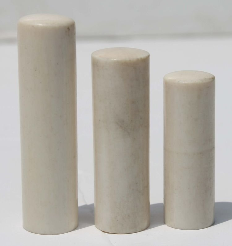 """9: 3 Chinese ivory chops - 1 1/2"""" - 2"""" tall"""