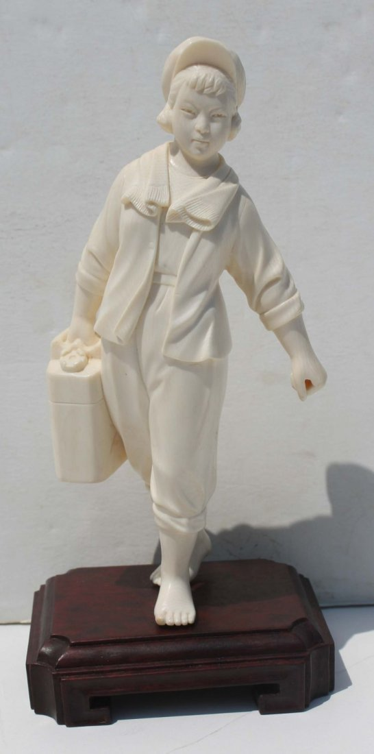 42: Chinese Cultural Revolution carved ivory figure of
