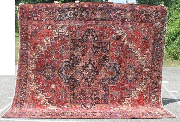 "21: 8'10""x9'10"" semi antique Persian Heriz Oriental rm"