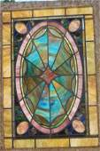 22: Fabulous antique leaded/stained glass window out of