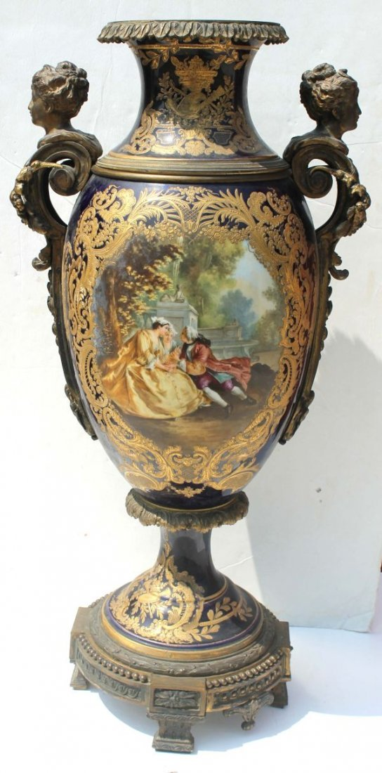 164: exceptional sgnd Sevres ca 1820 hand painted multi