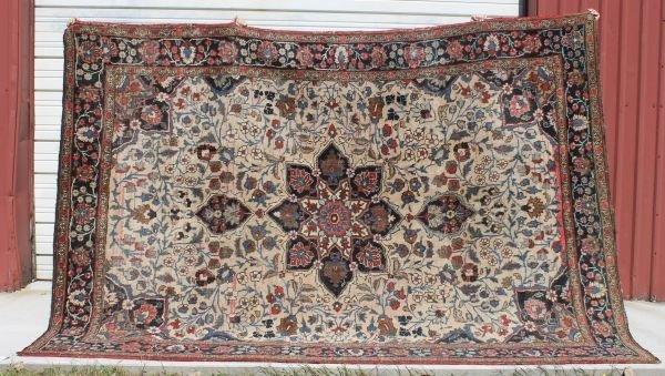 "12: 11'4""x8' antique Persian Heriz rm size Oriental rug"