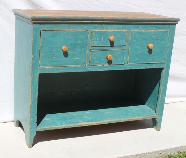 15: wonderful early 19thC bucket bench/cupboard in rare