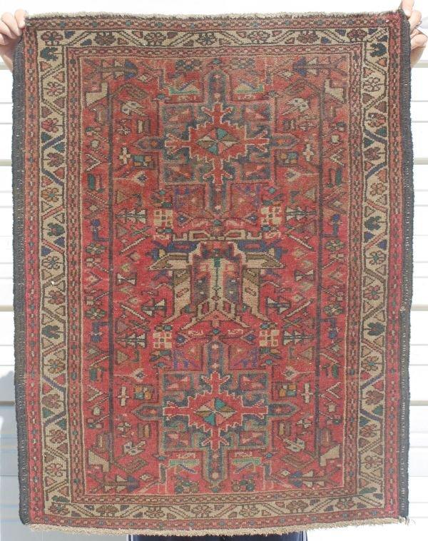 """16: 36""""x39"""" antique Oriental area rug"""