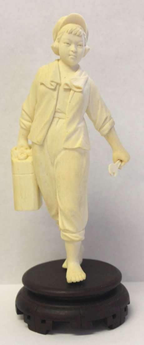 168: Chinese Cultural Revolution carved ivory figure of