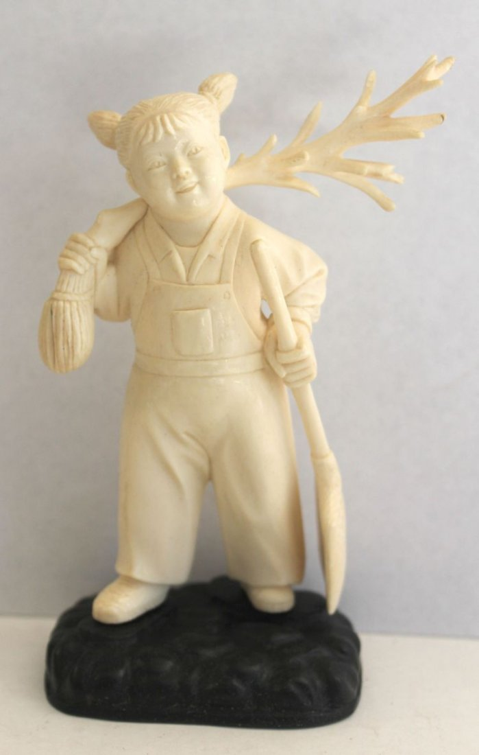 400: Chinese Cutlural Revolution carved ivory figure of