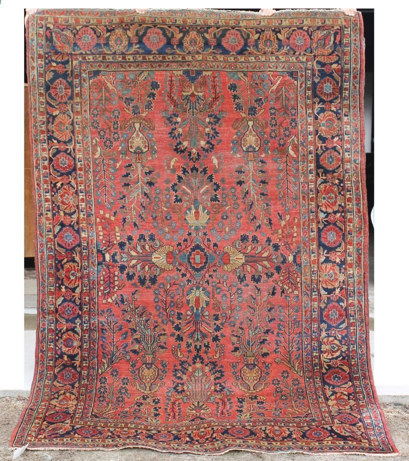 "11: 6'1""x9'1"" antique Persian Sarouk Oriental rug"