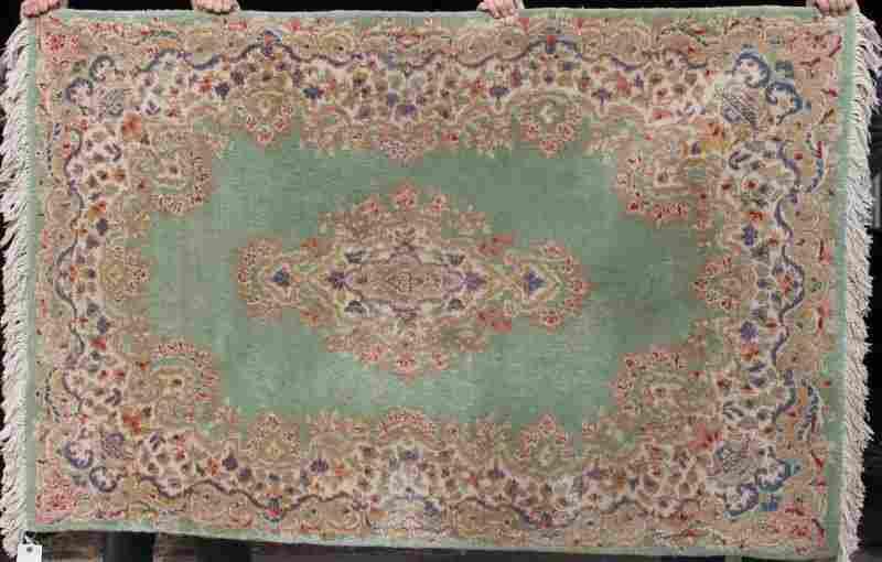 """341: 3'11""""x6' semi antique Kirman Oriental area rug fea"""