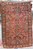 27x310 antique Persian Sarouk Oriental area rug