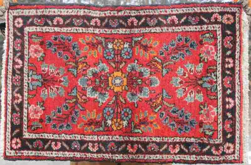 """2'2""""x3'2"""" semi-antique Hamadan Oriental area rug"""