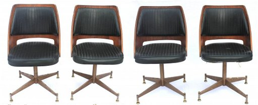 Admirable Set Of 4 P Brody Co Mid Century Modern Swivel Chairs Gmtry Best Dining Table And Chair Ideas Images Gmtryco