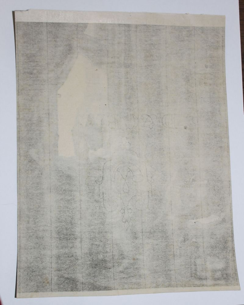 """rare early plate sgnd Rembrandt etching """"Jan Six"""" 1647 - 2"""