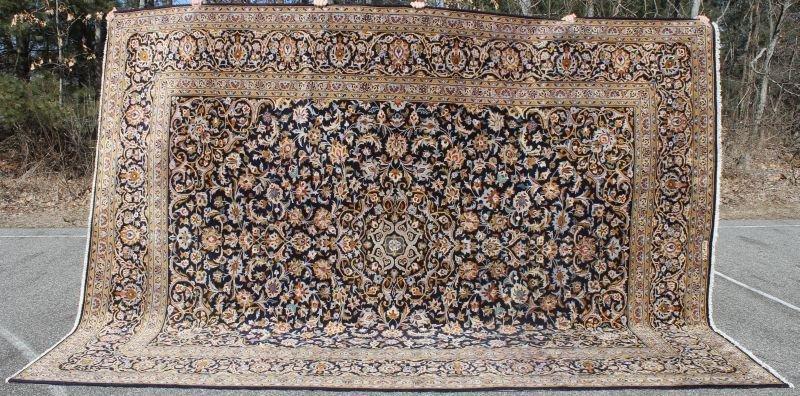 "10'x13'4"" Persian Kashan rm size Oriental rug"