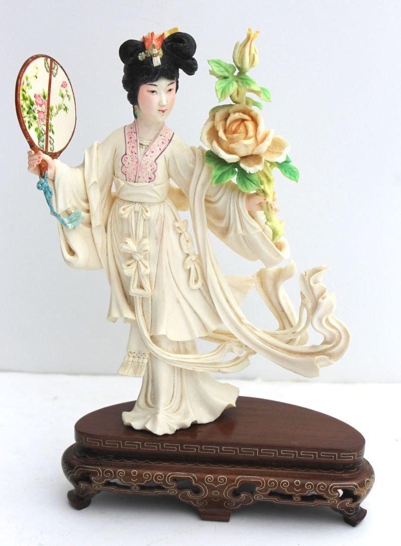 """magnificent Chinese Cultural Revolution carved ivory """"p"""