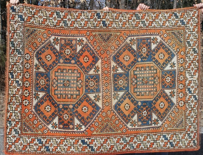 "4'8""x6'4"" sem-antique Turkish Konya Oriental area rug"