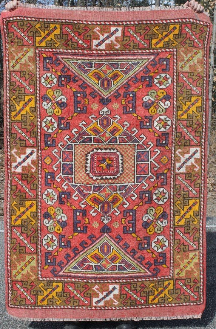 4'x6' semi-antique Turkish Sultan Oriental area rug