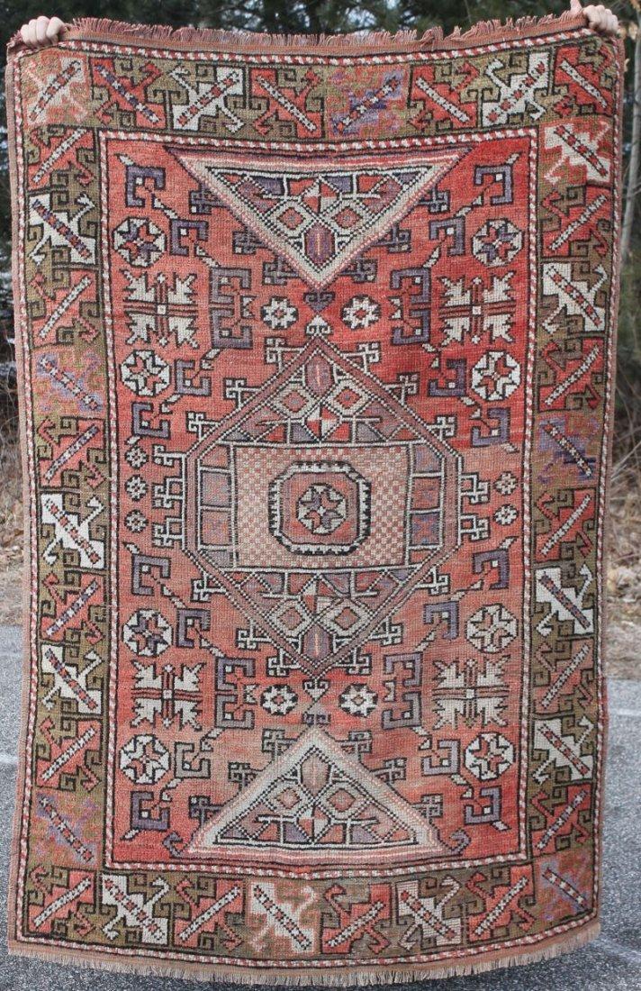 4'x6' semi-antique Turkish Konya Oriental area rug